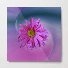 flowers on texture -501- Metal Print
