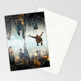 London Falling Stationery Cards