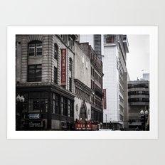 Dim Sum, downtown Boston, New England, Architecture, Chinatown Art Print