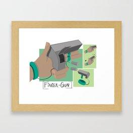 Finger Gun Framed Art Print
