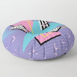 Memphis Pattern 57 - 80s - 90s Retro / 2nd year anniversary design Floor Pillow