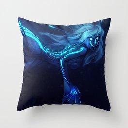 Deep Sea Mermaid Throw Pillow