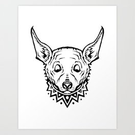 Chihuahua Party Art Print