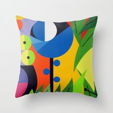 Flowers - Paint Throw Pillow