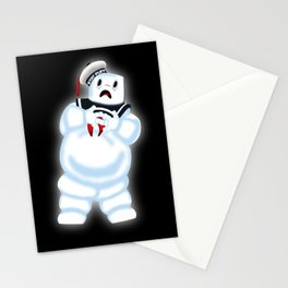 Scared Mr. Stay Puft Stationery Cards
