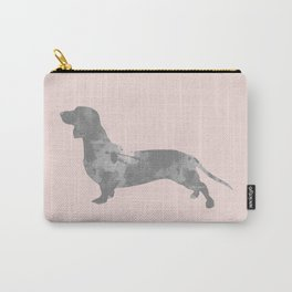 Dachshund pink and black Carry-All Pouch