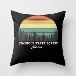 Seminole State Forest Florida Throw Pillow