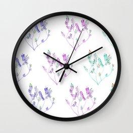 Little sprig pattern Wall Clock