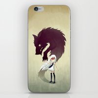 horror iPhone & iPod Skins featuring Werewolf by Freeminds