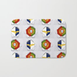 Portugal Azores Flags Bath Mat
