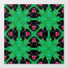 Tropical Gothic Pattern  Canvas Print