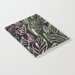 green and pink plant pattern Notebook