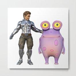 Me and my alien friend Metal Print