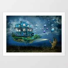 A journey with the wind Art Print