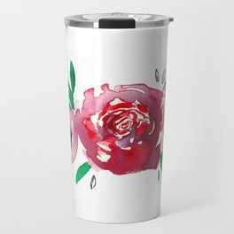 Three Red Christchurch Roses Travel Mug