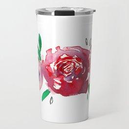 Three Red Christchurch Roses Travel Mug