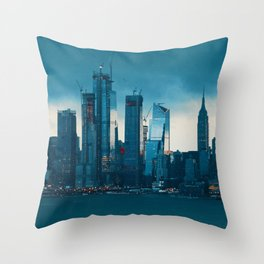 New York City Cityscape (Color) Throw Pillow