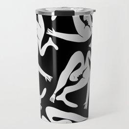 Picasso Pattern - Black and White Travel Mug