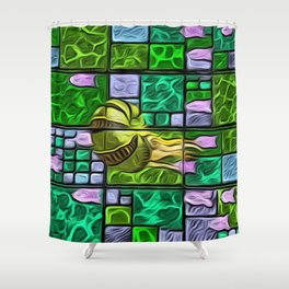 Octopus in Oils  Shower Curtain