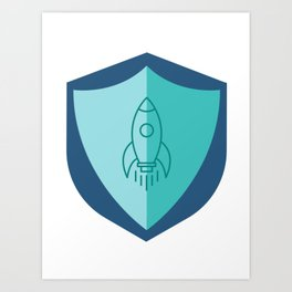 Space Cadet Crest Art Print