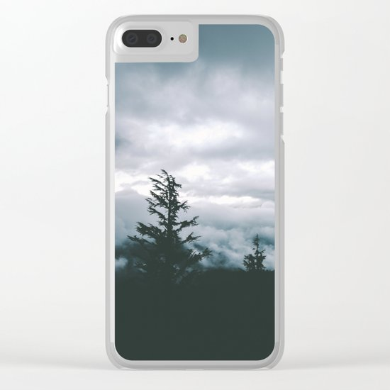 Forest Fog VII Clear iPhone Case