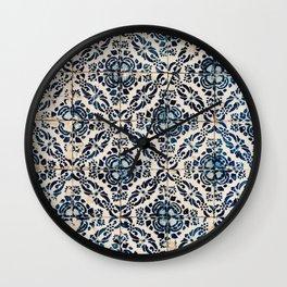 Azulejo IX - Portuguese hand painted tiles Wall Clock