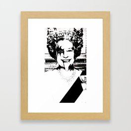 Save The Queen Framed Art Print