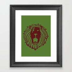 The Lion's Sin of Pride Framed Art Print