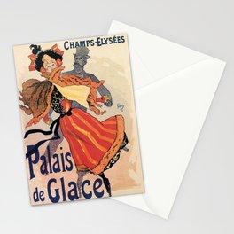 Vintage Ice skating palace Paris Stationery Cards
