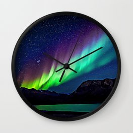 A Spectacle Of Polar Lights   Oil Painting Wall Clock