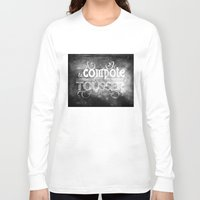 lettering Long Sleeve T-shirts featuring Lettering I by Merwizaur