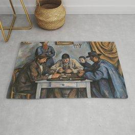 The Card Players (Les Joueurs de cartes) (ca 1890-1892) by Paul Cezanne Rug
