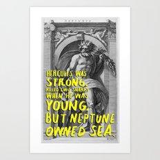 neptune haiku Art Print