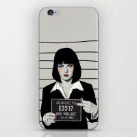 mia wallace iPhone & iPod Skins featuring Mia by Sofia Bonati