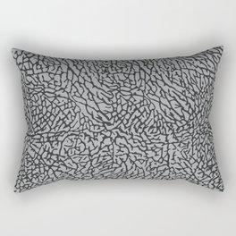 Elephant Print Texture - Grey Rectangular Pillow