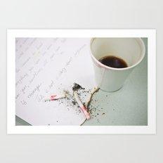 Coffee-3 Art Print