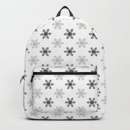 Snowflake Pattern | Black and White Backpack