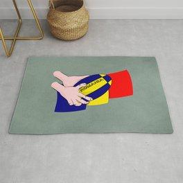 Rugby Romania Flag Rug
