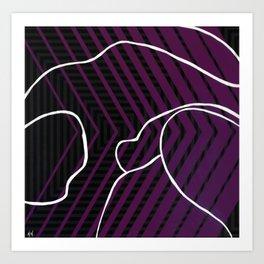 Lined - arrow Art Print