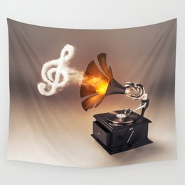 let the music play (just keep the groove) Wall Tapestry