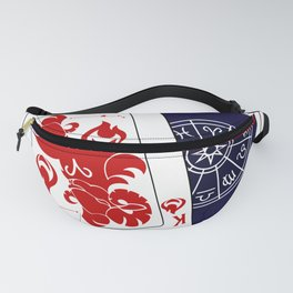 Aries King Playing Card Fanny Pack