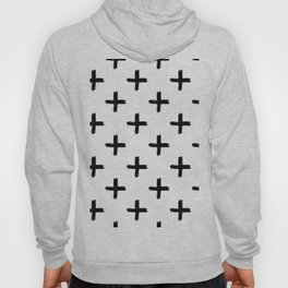 Swiss Cross in Black + White Hoody