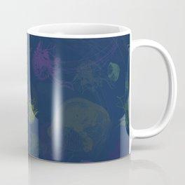 Jellyfish Photo Pop Art Print - Blue, Green and Purple Coffee Mug