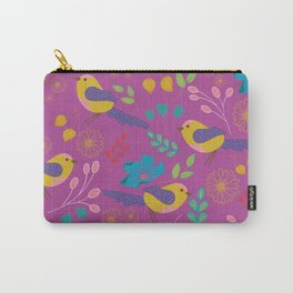 Pink Botanical Garden Carry-All Pouch