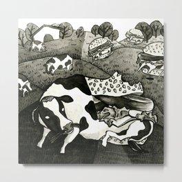 Beef Burgers Metal Print