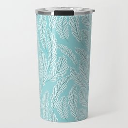 Pattern with delicate white flowers Travel Mug