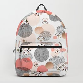 Pattern mosaic and abstract shapes Backpack
