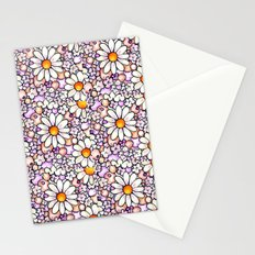 Large Blush Daisies Tiled Stationery Cards