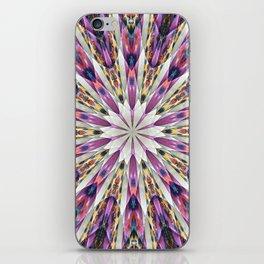 Purple Kaleidoscope Abstract Retro Groovy iPhone Skin