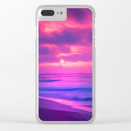 Rayleigh Scattering Beach | Painting Clear iPhone Case